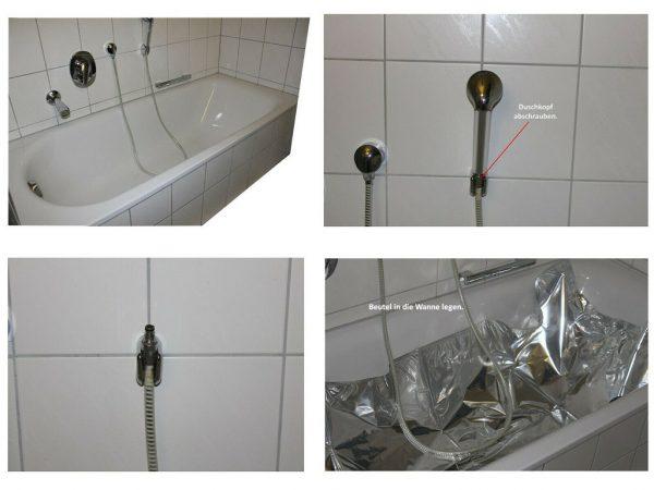 So können Sie Wasser sicher in der Badewanne lagern