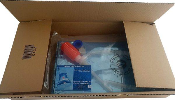 Wasserbeutel 220 Liter Verpackung