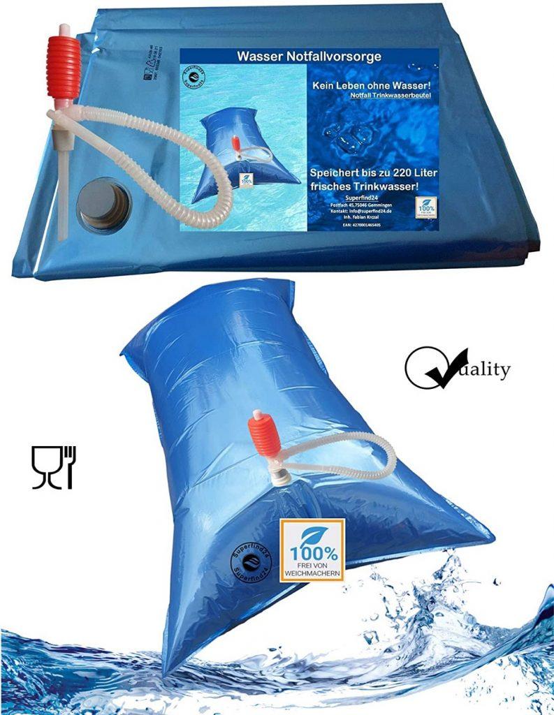 Wasser sicher und hygienisch Lagern