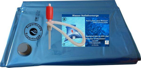 Notfallvorsorge Wasserbeutel bis 220 Liter