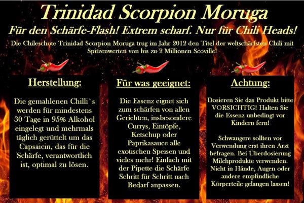 Chilisauce Trinidad Scorpion Moruga